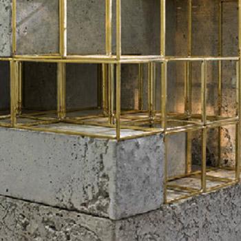 Brass Concrete Detail