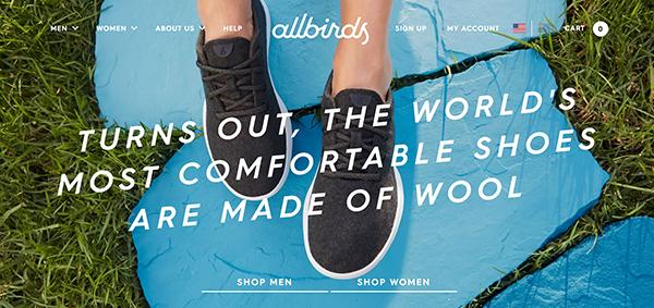 Allbirds Homepage