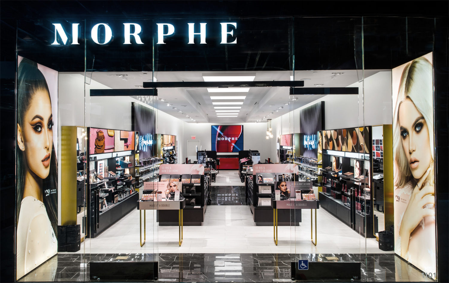 Morphe Store Front Retail Shop Design Installation