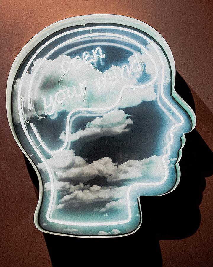 neon open your mind