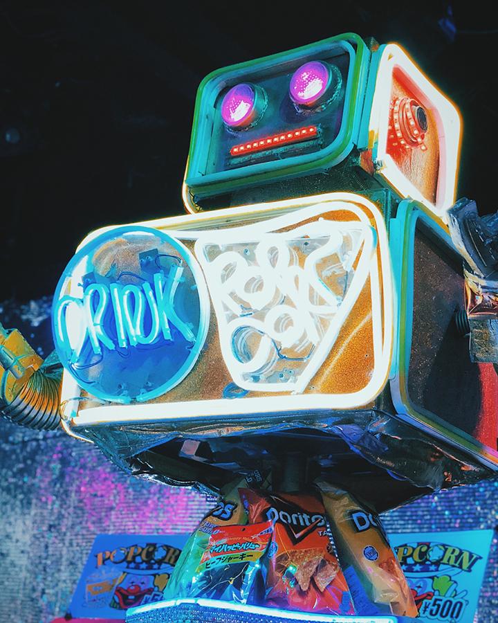 neon robots