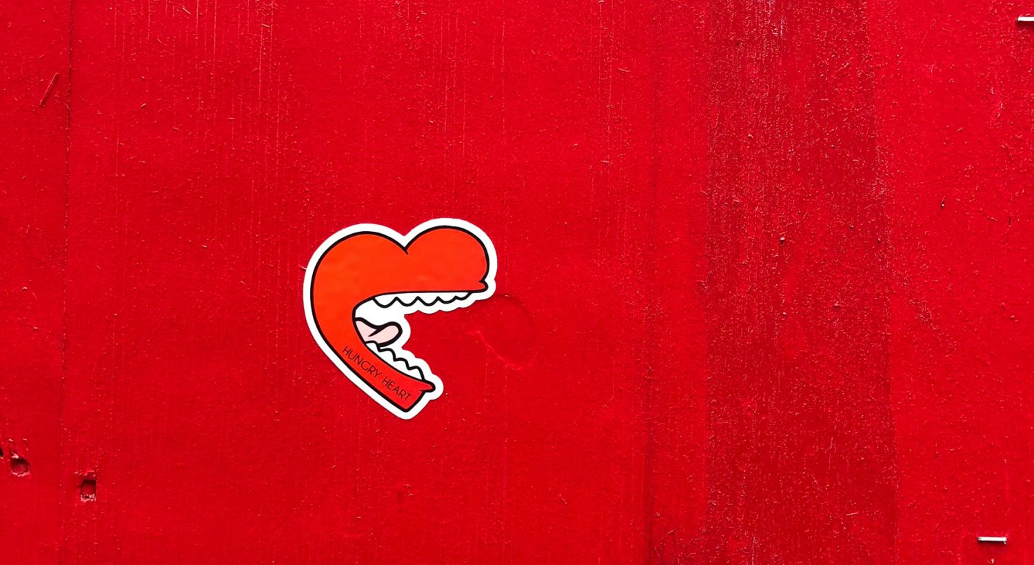 mouth on a red background