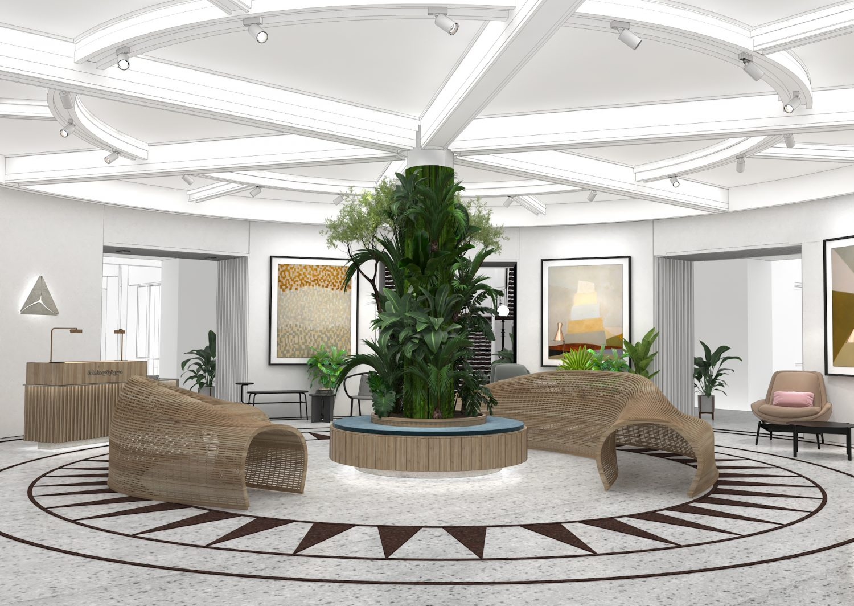 Sheridan&Co TBC Bank Interior Design The Atrium